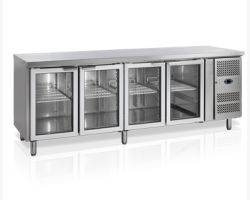 Kølebord 4 rum med glaslåger-0