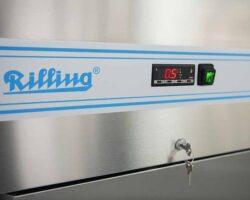 Fryseskab 700 liter - stål - 5 års garanti-16880