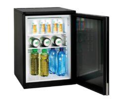 sort minibarmed glasdør
