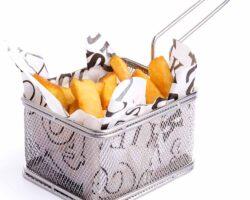 Friture serveringskurv - firkantet