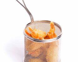 Friturekurv til servering - rund ø90x(H)90 mm