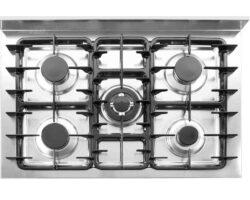 Gaskomfur med 5 brændere - elektrisk ovn-16180