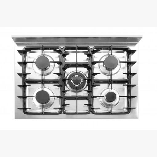 Kogebord, gas - 5 brændere - åbent stativ-16183