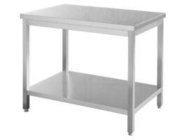 Stålbord m/underhylde - 1400x700x(H)850-0