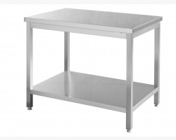 Stålbord m/underhylde - 1600x700x(H)850-0