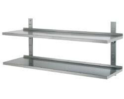 Væghylde dobbelt - justerbar - 1000x355x(H)600-0