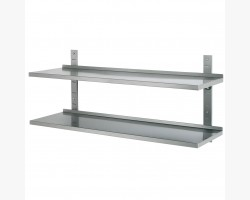 Væghylde dobbelt - justerbar - 1400x355x(H)600-0