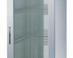 køleskab med glasdør